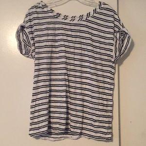 Stripes shirt sleeve tee